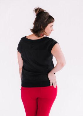 Top Jasmine noir et pantalons Délice rouge - dos