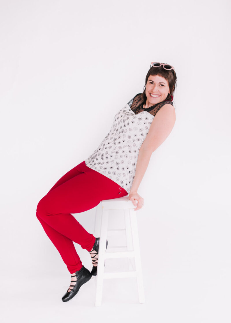 Top Mimi pissenlit et pantalons Délice rouge