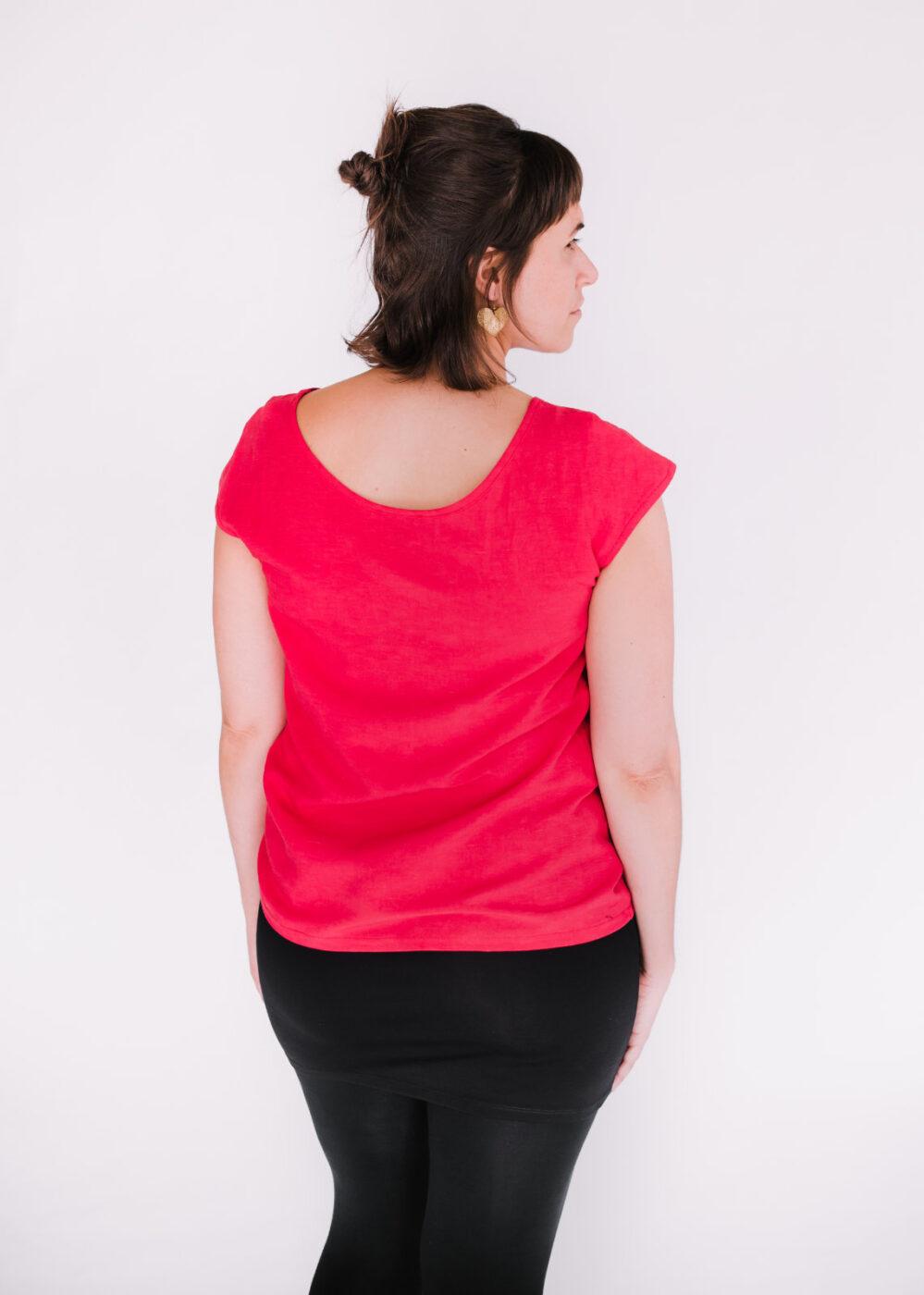 Top Rosée rouge, jupette Célia et leggings Pura Vida