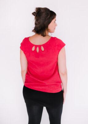 Top Rosée rouge, jupette Célia et leggings Pura Vida - dos